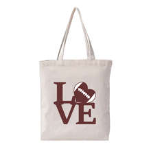 White Baseball Canvas Tote Bag Love Print Beach Eco Friendly Shopping Personalized Drop Shipping