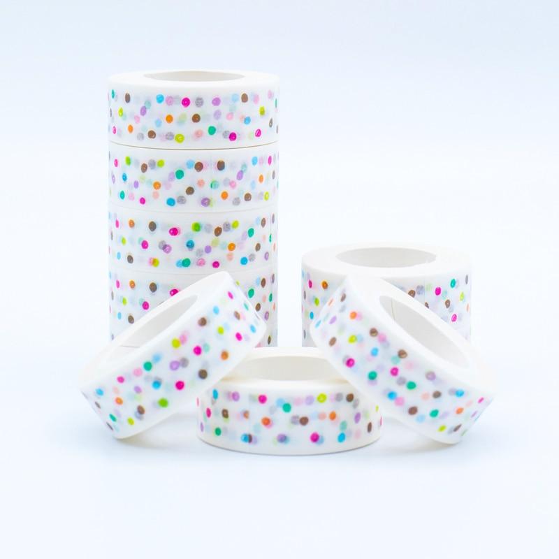 Japanese Mixed Color Washi Tape Lot Dot Pattern Masking Paper Tapes 2017 New Models Decorative Adhesive Tape Set 1PCS 50pcs lot mixed color
