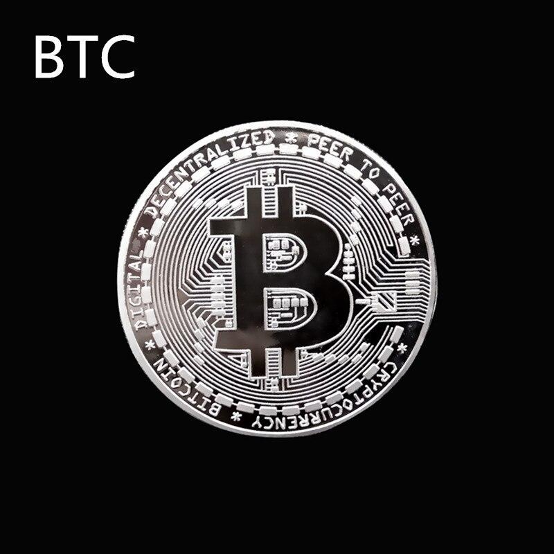 Позолоченная Виртуальная металлическая памятная монета биткоины сувенир искусство коллекционный бизнес подарок праздничное украшение подарок античный Im - Цвет: BTC
