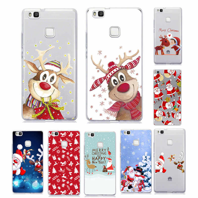 For Huawei P9 Lite 2017 Case Cover Silicone For Huawei P10 P20  Mate 20 Lite P Smart 2019 P30 Lite Pro Christmas Soft Coque Case