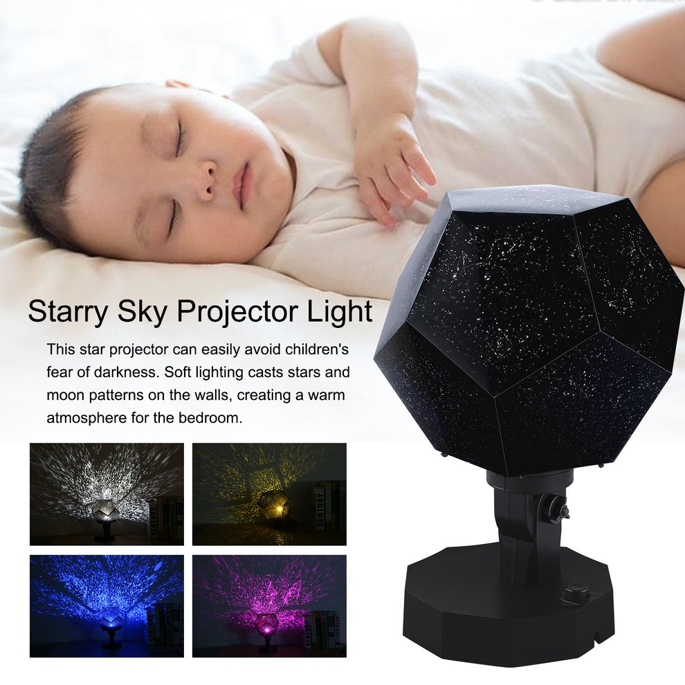 Self Defense Supplies Starry Sky Projector Light Cosmos Four Seasons Constellation Stars Projection Lamp Romantic Night Lamp