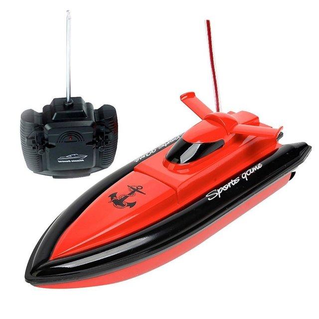 De alta Velocidad DEL Barco DEL RC Barco Eléctrico De Control Remoto-Rojo (Sólo Funciona En el Agua)