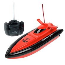 High Speed RC Boat Remote Control Electric Boat-Red (Only Works In Water)