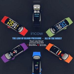 Image 4 - Imosi C1Plusスマートブレスレットカラー画面血圧フィットネストラッカー心拍数モニタースマートバンドスポーツアンドロイドios用