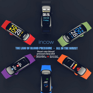 Image 4 - Pulsera inteligente Imosi C1Plus, pulsera inteligente deportiva con control del ritmo cardíaco y de la presión sanguínea y pantalla a Color para Android e IOS