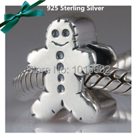925 Sterling Silver Cutie Biscuits Small Charms DIY Accessories For European Bracelet Necklace Ox 1pc Lot