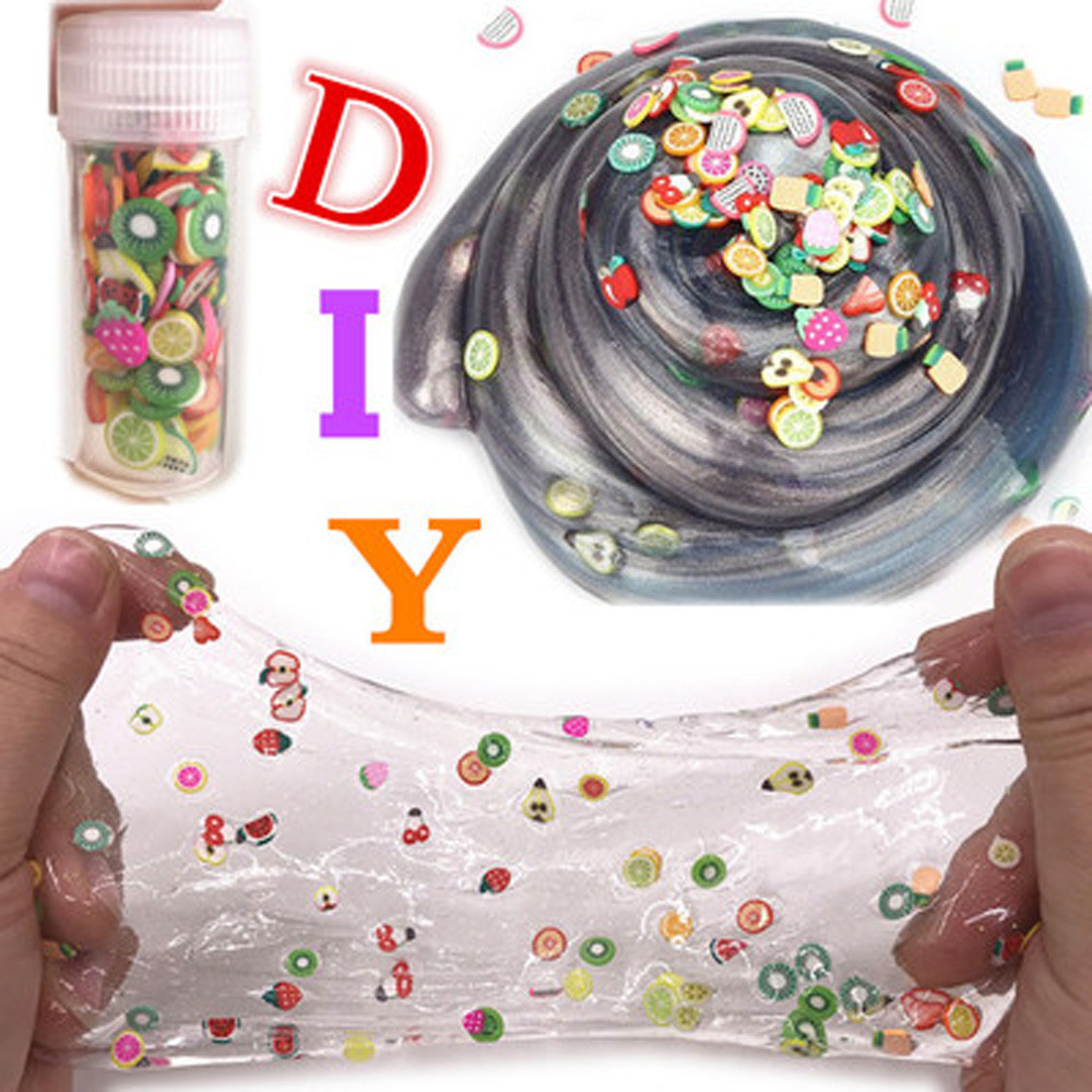 New Antistress Ball DIY 3D FIMO Slice Face Decoration Sequins For Homemade Slime Making Craft Drop Shippingaft