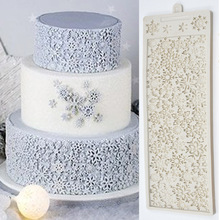 Snowflakes Fondant Cake Mold DIY 3D Christmas Design Decorating Tools Silicone Molds For Baking Chocolate Mould Sugarcraft