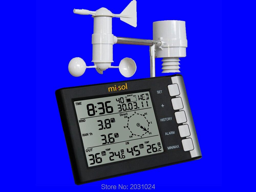 Stazione meteo professionale velocità del vento direzione del vento di umidità di temperatura pioggia 433 Mhz