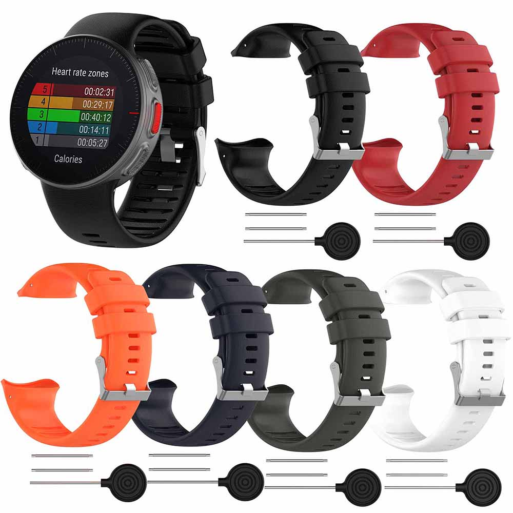For Polar Vantage V Silicone Smart Watch Strap Wristband Bracelet Band Replacement Repair Spare Parts Wristwatch Accessories New