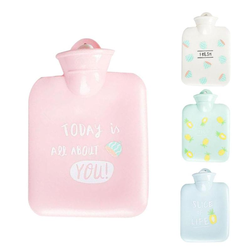 1pc Portable Cute Hot Water Bottles Tools Hand Warmer Water Injection Storage Bag Cartoon Hand Kids Warm Water Bottle #45 electronic iv training hand injection hand