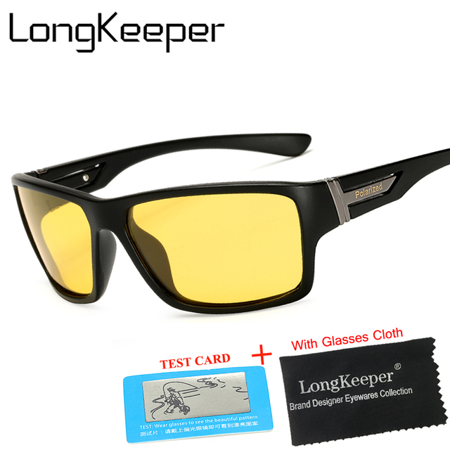 61e2c5fc1 Long Keeper Yellow Polarized Sunglasses Men Women Night Vision Goggles  Driving Glasses Driver Polaroid Sun Glasses UV400