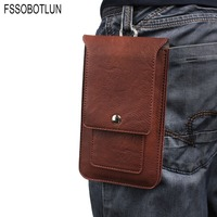 FSSOBOTLUN 4 Colors Double Portable Waist Belt Clip Holster Mobile Phone Case For BLU Studio Mega
