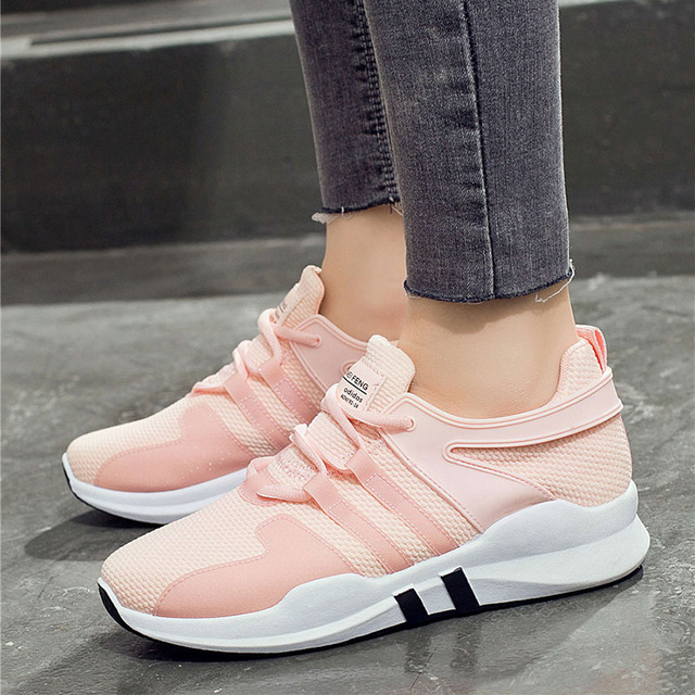 Women Shoes 2018 fashion lace-up comfortable shoes woman breathable mesh women sneakers tenis feminino ladies shoes casual shoes woman sneakers 2018 new spring fashion with breathable mesh women shoes tenis feminino light lace up shoes ladies