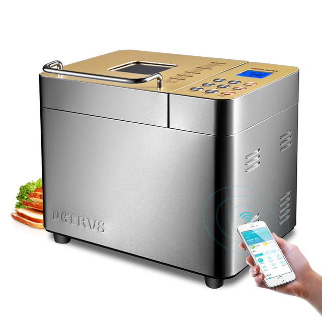 US $158 95 15% OFF|Safe Food Grade Coating Intelligent Home Double tube Ice  Cream Bread Maker Phone WIFI Control Electric Bread Making Machine-in