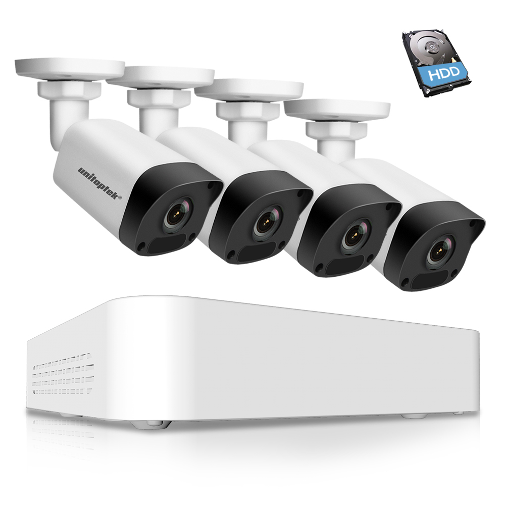 Ultra 265 1080P 4CH POE NVR Video CCTV System Surveillance Kit 4Pcs 2MP IP Camera POE Outdoor Waterproof IP67 IR 30m P2P Cloud 2mp 1080p poe dome ip camera ir 30m waterproof cctv camera with poe pc
