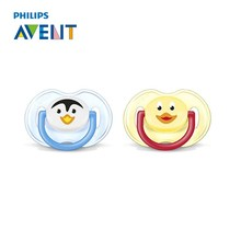 AVENT 2Pcs Silicone Nipple Dummy Baby Soother Toddler Orthodontic Nipples Teether Baby Boy Cartoon Pacifier Care For 0-6 Months