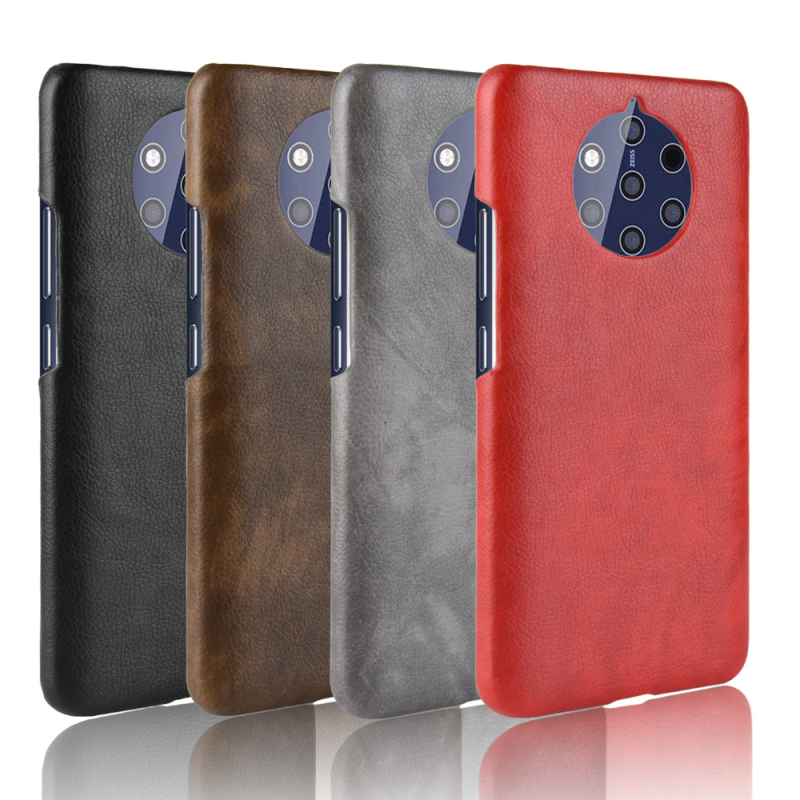 For Nokia 9 Pureview Case Luxury Litchi pattern PU leather + PC Hard Back Cover For Nokia 9 Pureview phone cases