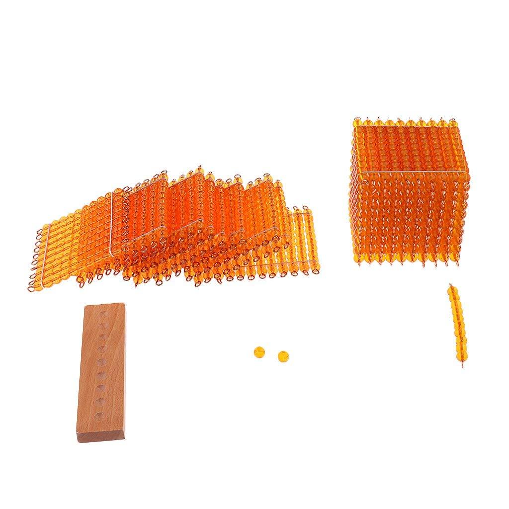 1 jeu éducatif pour enfants Montessori mathématiques jouets d'apprentissage décimaux-mille cent dix perles - 5