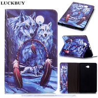 LUCKBUY Cool Wolf Dream Catcher PU Leather Tablet For Samsung Galaxy T815 S3 T825 T550 T560