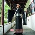 Мужская Hanfu Костюм Косплей Одежда Isconvoluting Мужской Рукава Китайский Черный Этап Одежда Бесплатная Доставка
