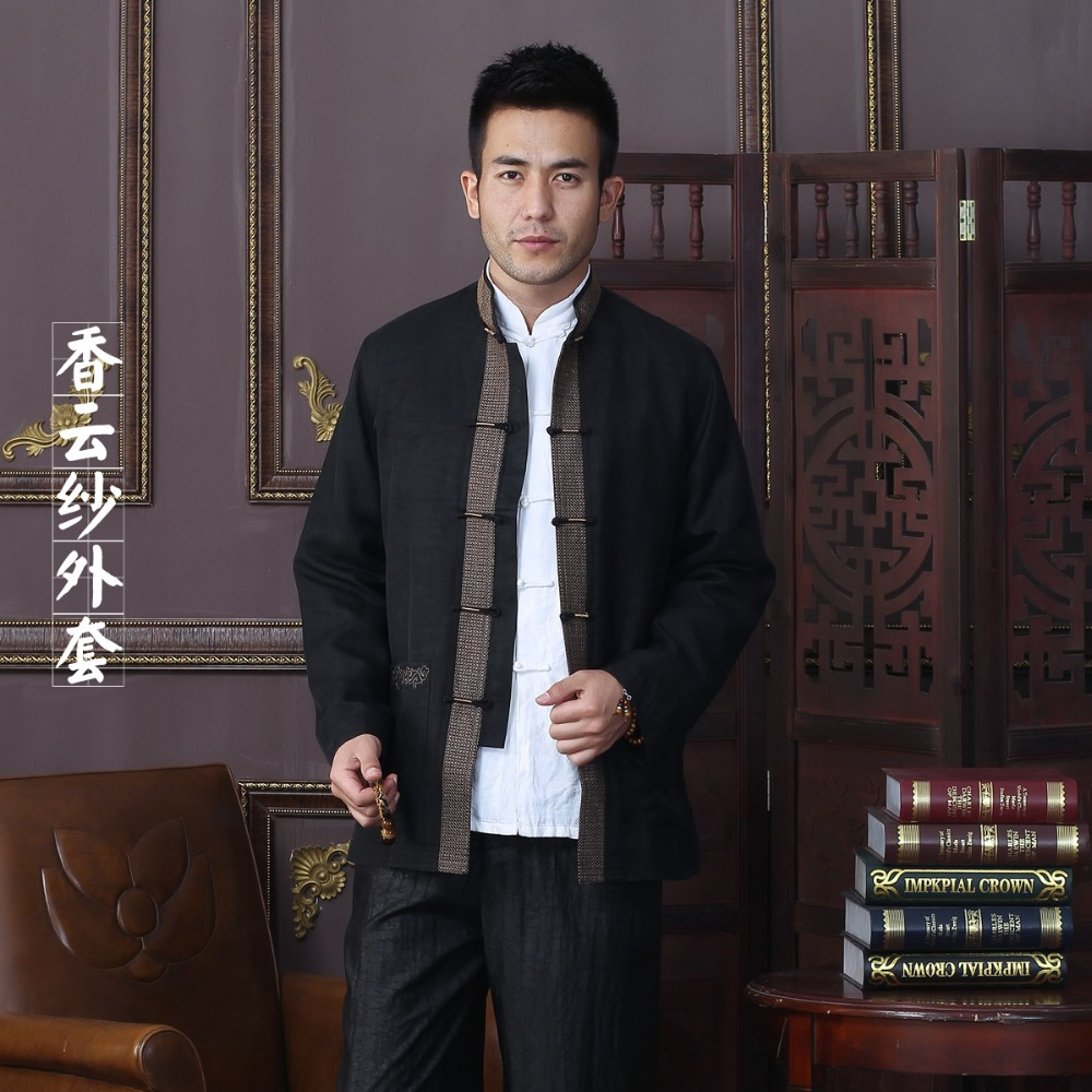 New Arrival Autumn Men Jacket 100% Silk Chinese Traditional Style Kung Fu jacket Fashion Tang Suit jacket Size L XL XXL 3XL 4XL