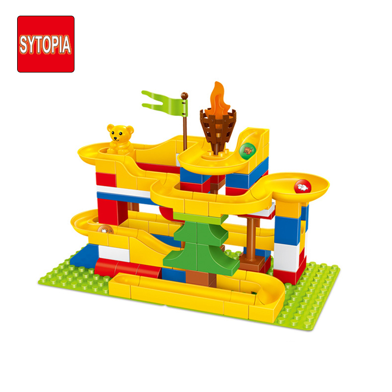 Sytopia Happy Slide Marbles Children Safe Building Blocks Big Size Educational Toy For Baby Kid Gift Toy Compatible With Duploe xizai connection blocks cartoon building toy big size kitty assembly educational intelligence blocks melody for children gift