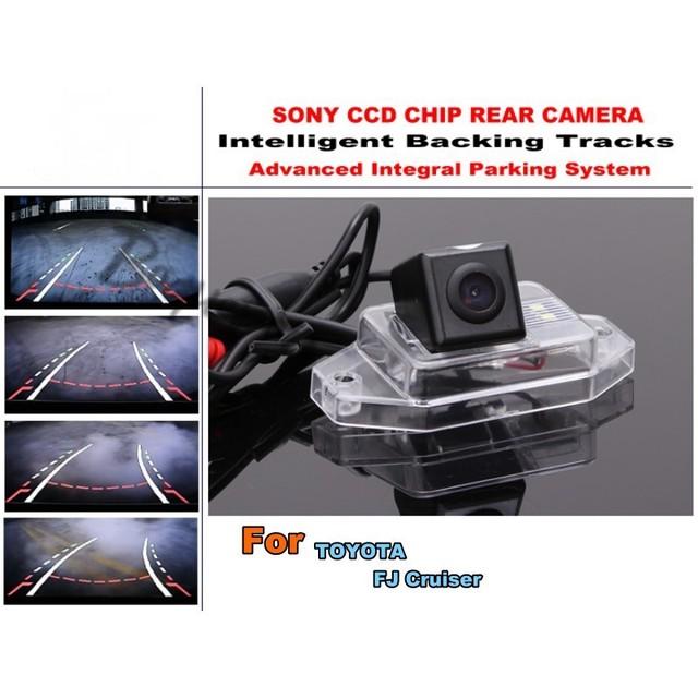 Para a Toyota FJ Cruiser 2007 ~ 2011 Smart Chip de Faixas Câmera/CCD HD Dinâmico Inteligente Estacionamento Car Rear View câmera