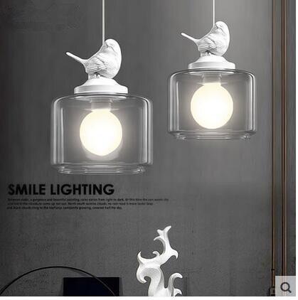 LED criativo restaurante café bar sala de crianças de aves 31 w 40 w droplight única cabeça de vidro 110 v 240 v - 4