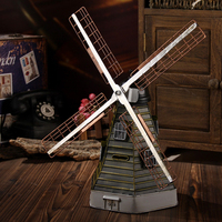 Metal Windmill Home Decoration