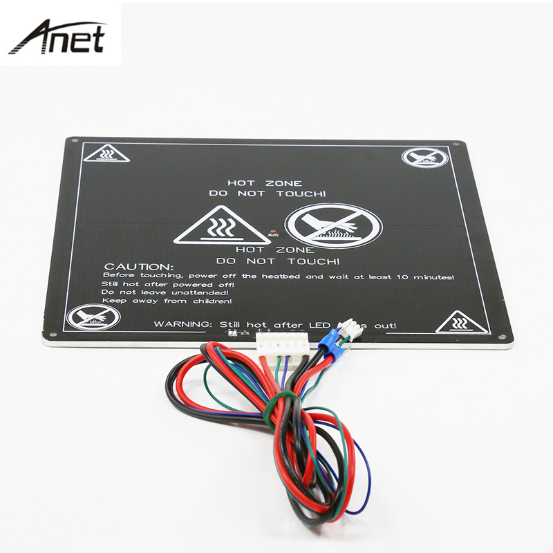 Anet UpgradedAluminum Heatbed 12V Big Size 220mm*220mm*3mm MK2A Hotbed With Cable for Mendel RepRap 3D printer A8 A6 A2 A3 anet a6 a8 mk3 12v heatbed aluminum heated bed 220mm 220mm 3mm mk2b & mk2a for mendel reprap i3 3d printer hotbed with cable