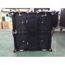 500x500mm coperta rgb led schermo di visualizzazione p3.91 coperta die cast cabinet in alluminio per il noleggio di pubblicità video wall schermo a led