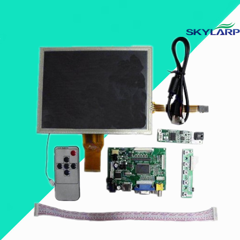 skylarpu for original 8''inch AT080TN52 LCD + HDMI/VGA/2AV Driver board +touch panel kit for Raspberry Pi Free shipping hdmi vga 2av lcd driver board vs ty2662 v1 71280 800 n070icg ld1 ld4 touch panel