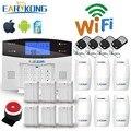Wifi GSM PSTN Alarmsysteem Wireless & Wired Detectoren Alarm Smart Home Relaisuitgang APP Engels/Russisch/Spaans /frankrijk/Italiaanse