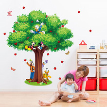Фотография 3D Large size Tree Donald Duck Mickey Mouse wall stickers for kids room living room home decor decals poster