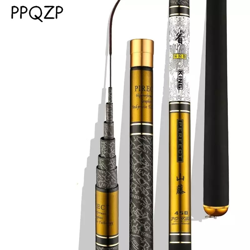 Telescopic Fishing Rod  High Quality Carbon Fiber 3.6m-10m  Ultra Light Hard Travel  Carp Fishing Pole Feeder VBONI