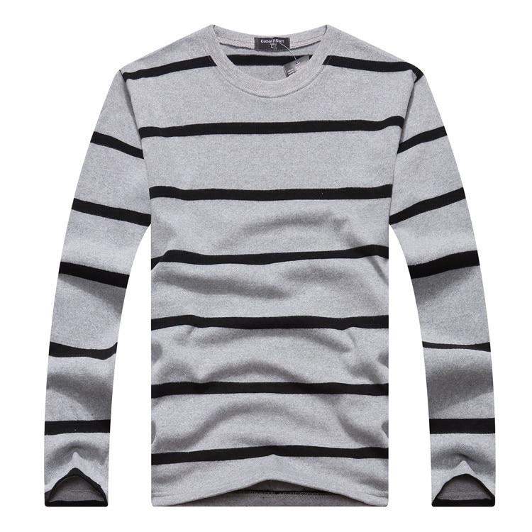 6b0bd0fb24 2015 Fashion Black White Striped t shirt Mens Long Sleeve Men Women Lovers Tshirt  Black White Horizontal Navy Sailor T shirts-in T-Shirts from Men's ...