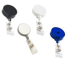 Lot 10pcs Flat Badge Reel Holder,Retractable ID Card Roller Clip, w/ Waist Buckle,Nylon Rope,Hospital Nurse&Office Display