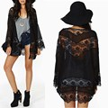 2016 Lace Floral Crochet Chiffon Blouse Summer Fashion Women Boho Kimono Cardigan Tops Blusas Femininas Plus Size New Brand