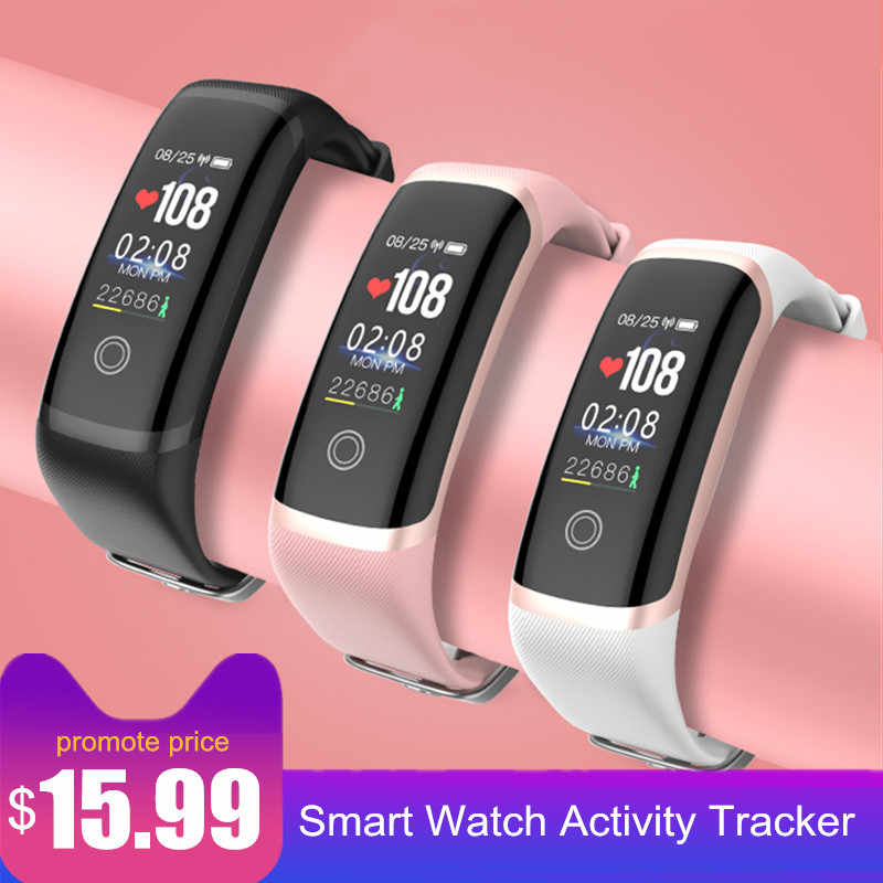 Letike Smart Watch Tracker Pria Tahan Air Wanita Heart Rate Monitor Kebugaran Tracker Smart Gelang Band