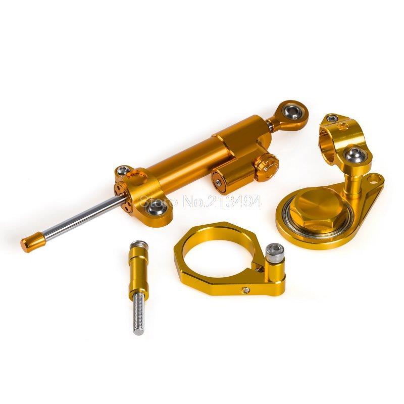 ФОТО New Style Gold Steering Damper with Bracket For Suzuki GSXR600/750 06-10, GSXR1000 07-08