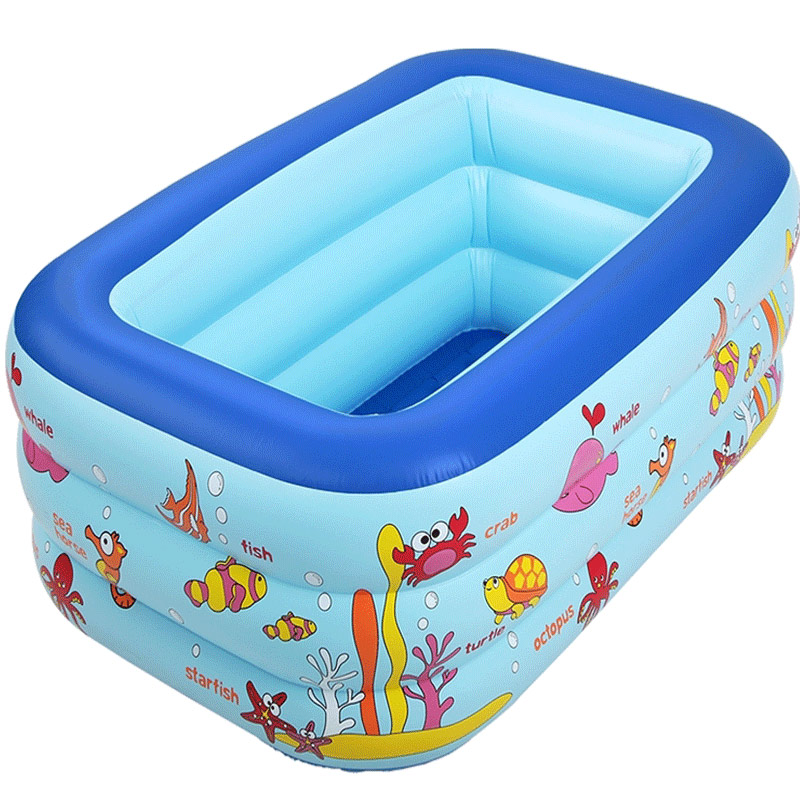 New 130X85X55cm Inflatable Swimming Pool Eco-friendly PVC Portable Foldable Child Baby Bath Tub inflatable baby swimming pool eco friendly pvc portable children bath tub kids mini playground newborn swimming pool bathtub