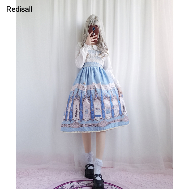 Lolita robe sans manches mignon doux chapeaux filles femmes taille haute robe dentelle nœud papillon JSK robe 0621