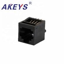 цена на 20PCS 5222-8P8C 180 degree All Plastic Modular Jack RJ45 connector