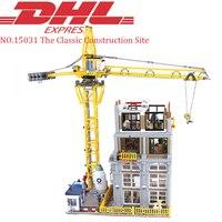 Лепин 15031 4425 шт. город улица MOC классический строительной площадке Набор Обучающие строительные блоки кирпичи игрушки для детей модели