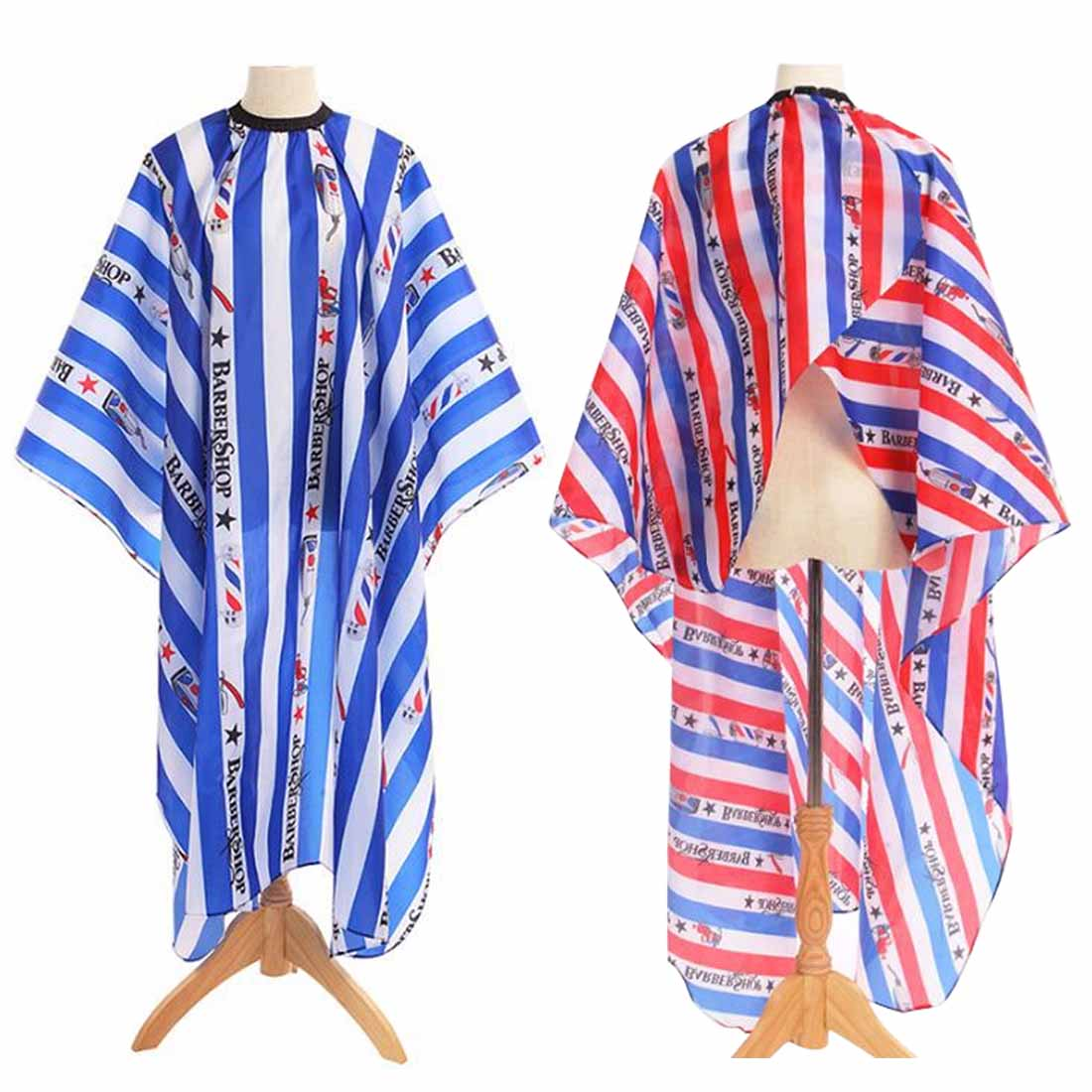Pro Salon Home Haircutting Wrap Stripe Hairdressing Cape Barber Hairdresser Waterproof Cover Gown Apron Hairstylist Cloth