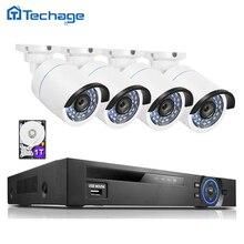 8CH Full HD 1080 P POE NVR Rejestrator CCTV System 4 SZTUK 2MP 3000TVL Kamera IP P2P IR Odkryty Network Video Surveillance Kit 1 TB HDD