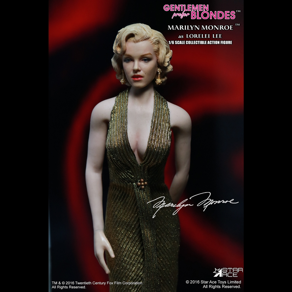 Marilyn Monroe Head Sculpt Action Figure 1//6 Toy Gentlemen Prefer Blondes 1953