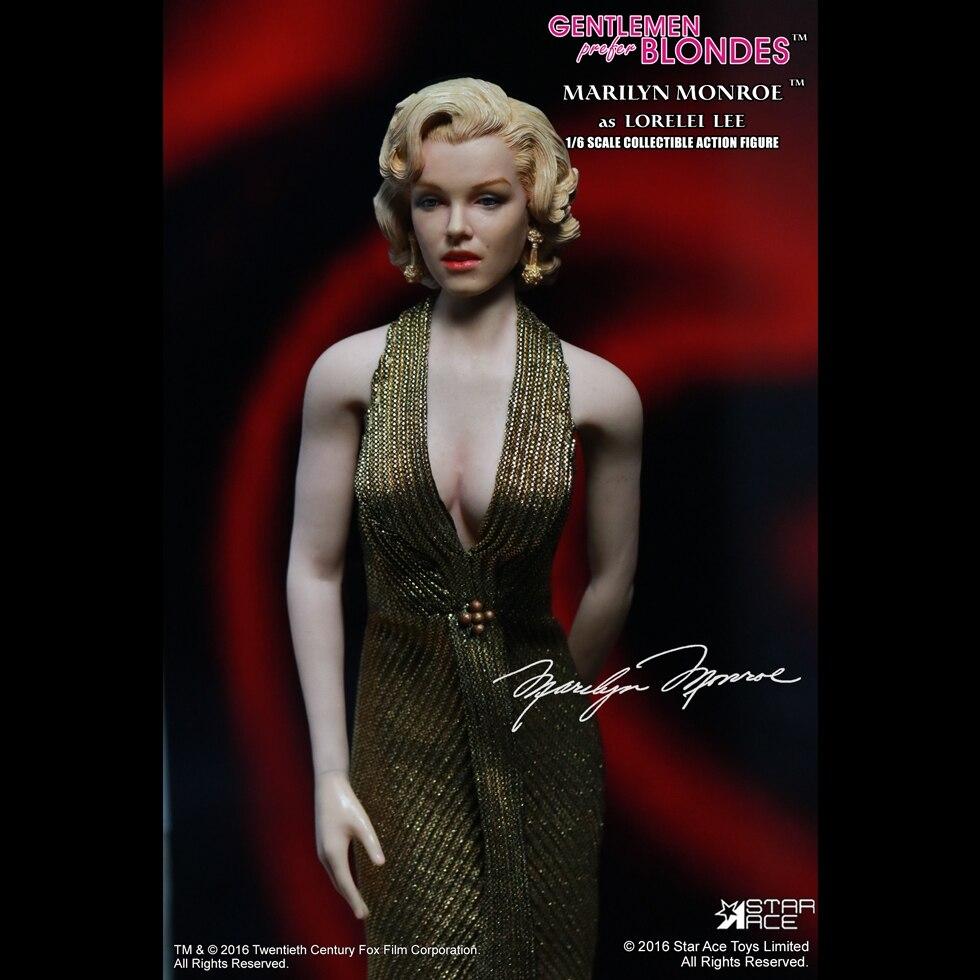 Star Ace Toys SA0016 caballeros prefieren BLONDES Marilyn Monroe 1/6 figura vestido de globo Ver-in Figuras de juguete y acción from Juguetes y pasatiempos    1