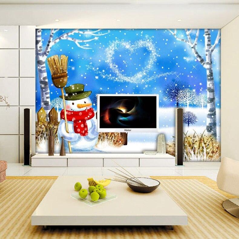 Popular snowman wallpapers buy cheap snowman wallpapers for Waterproof wallpaper for bedrooms